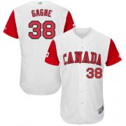 Wholesale Cheap Team Canada #38 Eric Gagne White 2017 World MLB Classic Authentic Stitched MLB Jersey