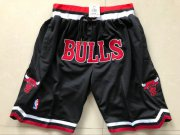 Wholesale Cheap Bulls Black 1997-98 Limited Shorts