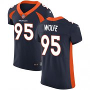Wholesale Cheap Nike Broncos #95 Derek Wolfe Navy Blue Alternate Men's Stitched NFL Vapor Untouchable Elite Jersey