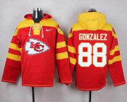 Wholesale Cheap Nike Chiefs #88 Tony Gonzalez Red Player Pullover NFL Hoodie