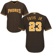 Wholesale Cheap Padres #23 Fernando Tatis Jr. Brown Cool Base Stitched Youth MLB Jersey