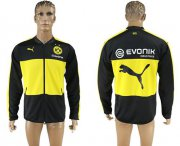 Wholesale Cheap Dortmund Soccer Jackets Black/Yellow