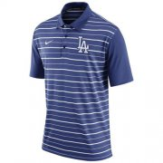 Wholesale Cheap Men's Los Angeles Dodgers Nike Royal Dri-FIT Stripe Polo