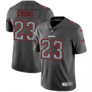 Wholesale Cheap Nike Patriots #23 Patrick Chung Gray Static Youth Stitched NFL Vapor Untouchable Limited Jersey