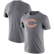 Wholesale Cheap Chicago Bears Nike Essential Logo Dri-FIT Cotton T-Shirt Heather Charcoal