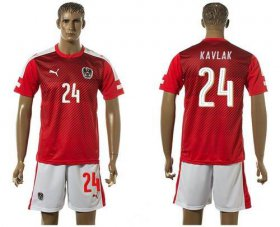 Wholesale Cheap Austria #24 Kavlak Red Home Soccer Country Jersey