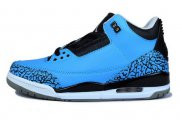 Wholesale Cheap Air Jordan 3 (III) Powder Blue Release Shoes blue/black/white
