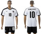 Wholesale Cheap Austria #10 Junuzovic White Away Soccer Country Jersey
