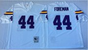 Wholesale Cheap Mitchell And Ness Vikings #44 Chuck Foreman White Throwback Stitched NFL Jersey
