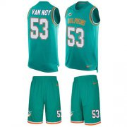 Wholesale Cheap Nike Dolphins #53 Kyle Van Noy Aqua Green Team Color Men's Stitched NFL Limited Tank Top Suit Jersey