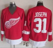 Wholesale Red Wings #31 Curtis Joseph Red CCM Throwback Stitched NHL Jersey