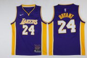 Wholesale Cheap Lakers 24 kobe Bryant Purple Black Mamba Nike Swingman Jersey