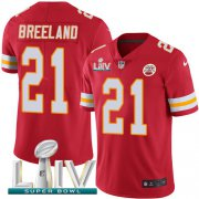 Wholesale Cheap Nike Chiefs #21 Bashaud Breeland Red Super Bowl LIV 2020 Team Color Men's Stitched NFL Vapor Untouchable Limited Jersey
