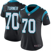 Wholesale Cheap Nike Panthers #70 Trai Turner Black Team Color Women's Stitched NFL Vapor Untouchable Limited Jersey