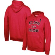 Wholesale Cheap Atlanta Falcons Mitchell & Ness Team History Pullover Hoodie Red