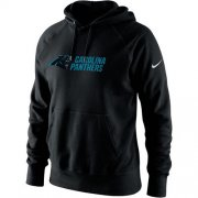 Wholesale Cheap Men's Carolina Panthers Nike Black Lockup Pullover Hoodie