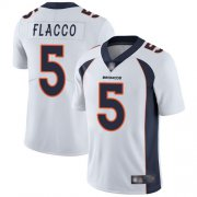 Wholesale Cheap Nike Broncos #5 Joe Flacco White Men's Stitched NFL Vapor Untouchable Limited Jersey