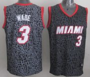 Wholesale Cheap Miami Heat #3 Dwyane Wade Black Leopard Print Fashion Jersey