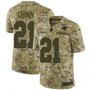 Wholesale Cheap Nike Panthers #21 Jeremy Chinn Camo Youth Stitched NFL Limited 2018 Salute To Service Jersey