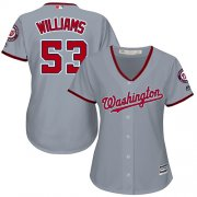 Wholesale Cheap Nationals #53 Austen Williams Grey Road Women's Stitched MLB Jersey