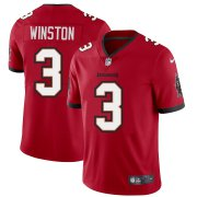 Wholesale Cheap Tampa Bay Buccaneers #3 Jameis Winston Men's Nike Red Vapor Limited Jersey