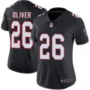 Wholesale Cheap Nike Falcons #26 Isaiah Oliver Black Alternate Women's Stitched NFL Vapor Untouchable Limited Jersey