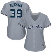 Wholesale Cheap Yankees #39 Mike Tauchman Grey Road Women's Stitched MLB Jersey