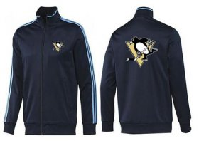 Wholesale Cheap NHL Pittsburgh Penguins Zip Jackets Dark Blue