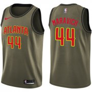 Wholesale Cheap Nike Atlanta Hawks #44 Pete Maravich Green Salute to Service NBA Swingman Jersey