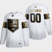 Wholesale Cheap Los Angeles Kings Custom Men's Adidas White Golden Edition Limited Stitched NHL Jersey