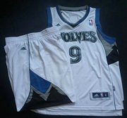 Wholesale Cheap Minnesota Timberwolves 9 Ricky Rubio White Revolution 30 Swingman NBA Suits