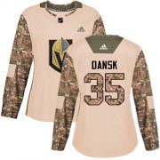 Wholesale Cheap Adidas Golden Knights #35 Oscar Dansk Camo Authentic 2017 Veterans Day Women's Stitched NHL Jersey