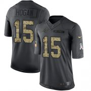Wholesale Cheap Nike Panthers #15 Chris Hogan Black Men's Stitched NFL Limited 2016 Salute to Service Jersey