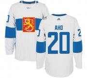 Wholesale Cheap Team Finland #20 Sebastian Aho White 2016 World Cup Stitched NHL Jersey