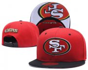 Wholesale Cheap NFL San Francisco 49ers Team Logo Snapback Adjustable Hat T101
