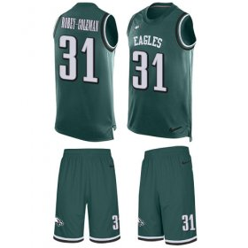 Wholesale Cheap Nike Eagles #31 Nickell Robey-Coleman Green Team Color Men\'s Stitched NFL Limited Tank Top Suit Jersey