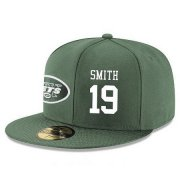 Wholesale Cheap New York Jets #19 Devin Smith Snapback Cap NFL Player Green with White Number Stitched Hat
