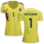 Wholesale Cheap Women's Colombia #1 Castellanos Home Soccer Country Jersey