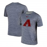 Wholesale Cheap Nike Arizona Diamondbacks Crimson Gray Black Striped Logo Performance T-Shirt