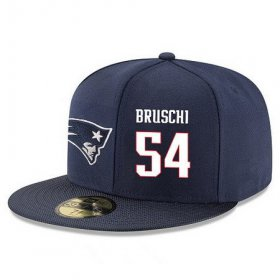 Wholesale Cheap New England Patriots #54 Tedy Bruschi Snapback Cap NFL Player Navy Blue with White Number Stitched Hat