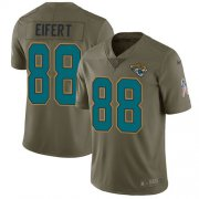 Wholesale Cheap Nike Jaguars #88 Tyler Eifert Olive Men's Stitched NFL Limited 2017 Salute To Service Jersey