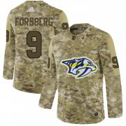 Wholesale Cheap Adidas Predators #9 Filip Forsberg Camo Authentic Stitched NHL Jersey