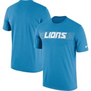 Wholesale Cheap Detroit Lions Nike Sideline Seismic Legend Performance T-Shirt Blue