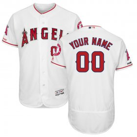 Wholesale Cheap Los Angeles Angels Majestic Home Flex Base Authentic Collection Custom Jersey White