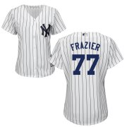 Wholesale Cheap New York Yankees #77 Clint Frazier White Majestic Women's Cool Base Stitched MLB Jersey