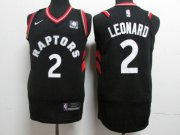 Wholesale Cheap Nike Toronto Raptors 2 Kawhi Leonard Black NBA Authentic Statement Edition Jersey