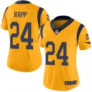 Wholesale Cheap Nike Rams #24 Taylor Rapp Gold Women's Stitched NFL Limited Rush Jersey