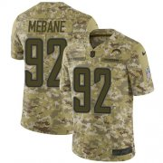 Wholesale Cheap Nike Chargers #92 Brandon Mebane Camo Men's Stitched NFL Limited 2018 Salute To Service Jersey