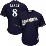 Wholesale Cheap Brewers #8 Ryan Braun Blue Cool Base Stitched Youth MLB Jersey