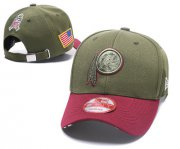 Wholesale Cheap NFL Washington Redskins Team Logo Olive Peaked Adjustable Hat W12